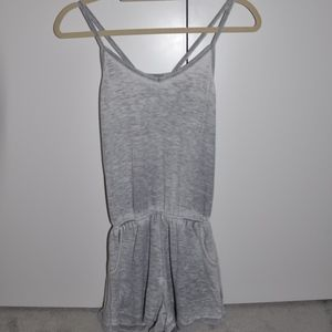 Brandy Melville Romper Grey and White
